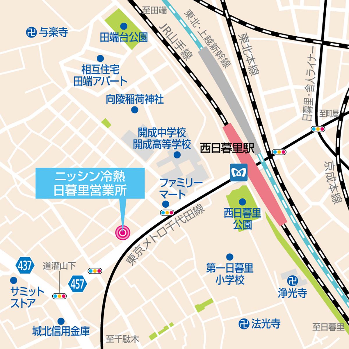 日暮里営業所地図