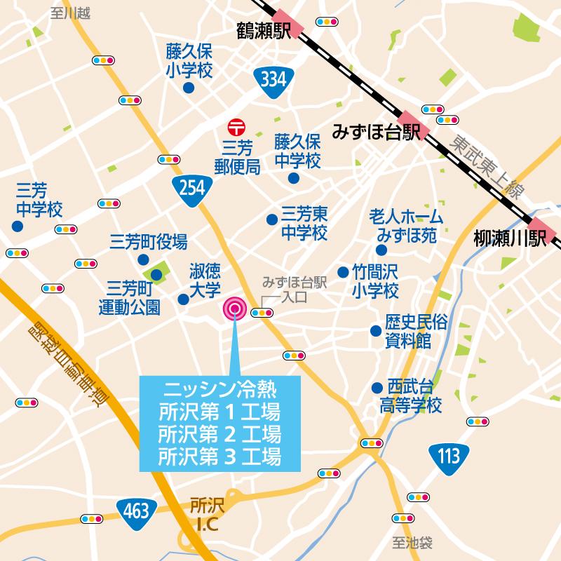 所沢工場地図